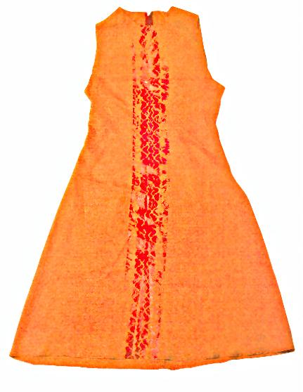 Alexander McQueen: try-track dress, Frühling/Sommer 1995